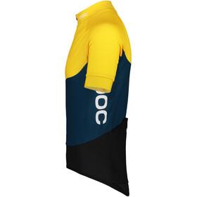 POC Essential Road Light Jersey Men sulphite yellow/draconis blue